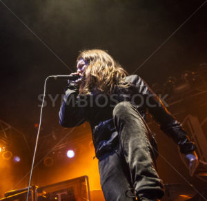 BOISE, IDAHO – FEBRUARY 15, 2015: Fit for a King frontman Ryan Kirby on Stage - Shot Your show
