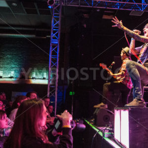 BOISE, IDAHO/USA – MARCH 8TH, 2015: On stage the Band fit for rivals plays for teh crowd - Shot Your show