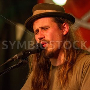 BOISE, IDAHO/USA MARCH 26, 2015: Singer performing at the annual TreeFort in Boise, Idaho - Shot Your show