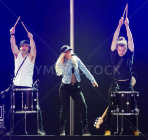 NAMPA, IDAHO/USA - JUNE 16, 2016: Members from The Band Perry on stage at the Idaho Center in Nampa during their concert - Shot Your show