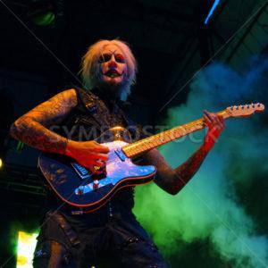 NAMPA/IDAHO - JULY 2: John 5 from Rob Zombie performs at the Rockstar Mayhem Festival in Nampa, Idaho July 2nd, 2013 - Shot Your show