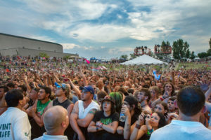 NAMPA/IDAHO - JULY 2: Large crowd of people watching the Rockstar Mayhem Festival in Nampa, Idaho July 2nd, 2013 - Shot Your show