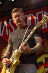 NAMPA/IDAHO - JULY 2: Mastodon guitarist Bill Kelliher plays during the Rockstar Mayhem Festival in Nampa, Idaho July 2nd, 2013 - Shot Your show