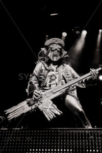 NAMPA/IDAHO - JULY 2: Piggy D., bassist from Rob Zombie performs at the Rockstar Mayhem Festival in Nampa, Idaho July 2nd, 2013 - Shot Your show