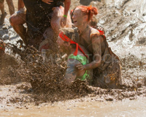 BOISE, IDAHO – AUGUST 25: People splash and make a mess at the Dirty Dash August 25 2012 in Boise, Idaho - Shot Your show
