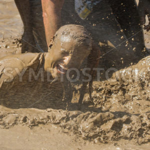 BOISE, IDAHO – AUGUST 25: Unidentified person gets sprayed with water at the Dirty Dash August 25 2012 in Boise, Idaho - Shot Your show
