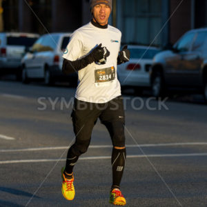BOISE, IDAHO – NOVEMBER 22: Runner 2834 competes in the Turkey Day 5k in Boise, Idaho on November 22, 2012 - Shot Your show