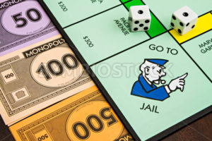 BOISE, IDAHO - NOVEMBER 18: The monopoly board game was first published by Parker Brothers, currently owned by Hasbro, in 1935  - Shot Your show