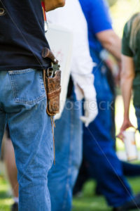 BOISE, IDAHO/USA - JULY 1, 2016: Mans sidearm during the gathering in support of permitless concealed carry - Shot Your show