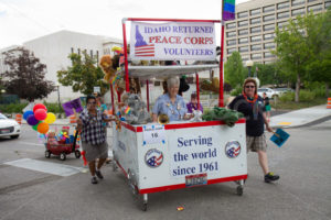 BOISE, IDAHO/USA - JUNE 20, 2016: Idaho peace corps marching during the Boise Pridefest parade - Shot Your show