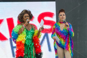 BOISE, IDAHO/USA - JUNE 20, 2016: Poison Waters and Selena Blaque hosting the Boise Pridefest - Shot Your show