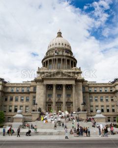 BOISE, IDAHO/USA - MAY 7, 2016: Crowd gathered at the steps of the capital during the Global Marijuana March - Shot Your show