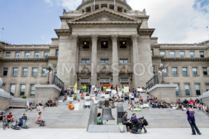 BOISE, IDAHO/USA - MAY 7, 2016: Group of people in support for making marijuana legal during the Global Marijuana March in Boise, Idaho - Shot Your show