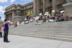 BOISE, IDAHO/USA - MAY 7, 2016: Speaker giving her message about marijuana during the march in Boise, Idaho - Shot Your show