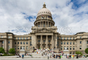 BOISE, IDAHO/USA - MAY 7, 2016:Group of people gathered at the Boise capital in support of making marijuana legal - Shot Your show