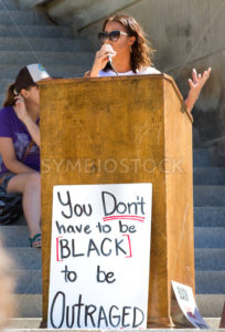 Black lives matter speaker at the capital - Shot Your show