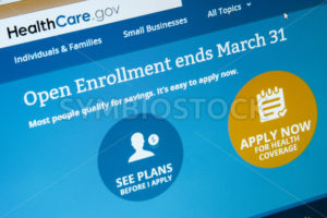 CALDWELL, IDAHO/USA - MARCH 9, 2014: Obamacare website showing that open enrollement is almost over. - Shot Your show