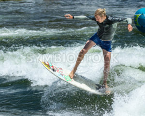 CASCADE, IDAHO/USA - JUNE 21, 2014: Man getting a little air at the Payette River Games in Cascade, Idaho - Shot Your show