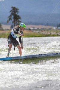 CASCADE, IDAHO/USA - JUNE 21, 2014: Number 212 striving for the finish at the Payette River Games - Shot Your show