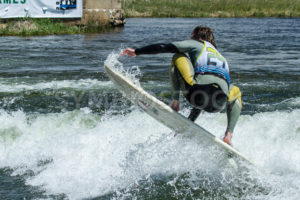 CASCADE, IDAHO/USA - JUNE 21, 2014: Number 24 gets some air while at the Payette River Games - Shot Your show