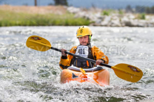 CASCADE, IDAHO/USA - JUNE 21, 2014: Number 401 on the river during the Payette River Games - Shot Your show