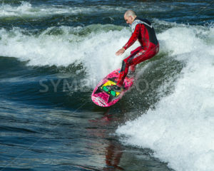 CASCADE, IDAHO/USA - JUNE 21, 2014: Surfer and his wave during the Payette River Games in Cascade, Idaho - Shot Your show