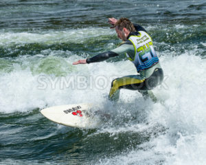 CASCADE, IDAHO/USA - JUNE 21, 2014: Surfer riding a wave during the Payette River Games at Cascade, Idaho - Shot Your show