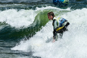 CASCADE, IDAHO/USA - JUNE 21, 2014: number 24 rides a wave during the PAyette River Games - Shot Your show