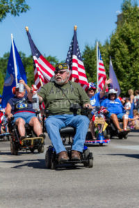 Disabled veterans showing their support during the Parade - Shot Your show