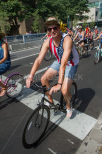 Man on his bike during the parade - Shot Your show