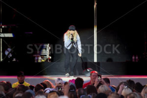 NAMPA, IDAHO/USA - JUNE 16, 2016: Kimberly Perry sings to her fans at the show at the Idaho Center in Nampa, Idaho - Shot Your show