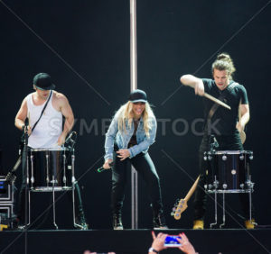 NAMPA, IDAHO/USA - JUNE 16, 2016: Smiling to the fans The Band Perry puts on a good show at the Idaho Center in Nampa, Idaho - Shot Your show
