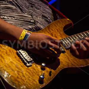 BOISE, IDAHO/USA – MARCH 8TH, 2015: Guitarist for Fit for Rivals plays his guitar - Shot Your show